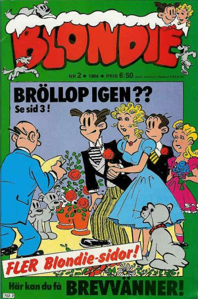 Cover for Blondie (Semic, 1963 series) #2/1984