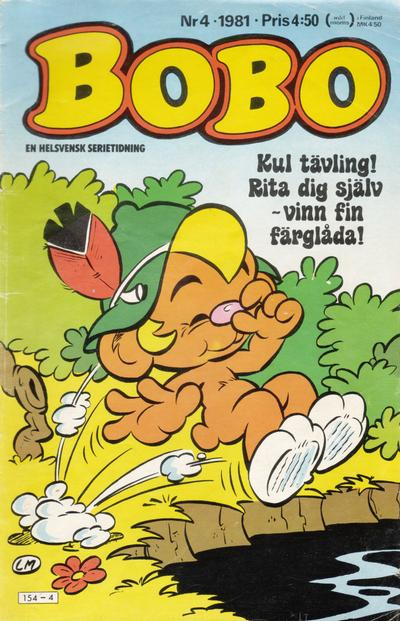Cover for Bobo (Semic, 1978 series) #4/1981