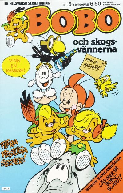 Cover for Bobo (Semic, 1978 series) #5/1986