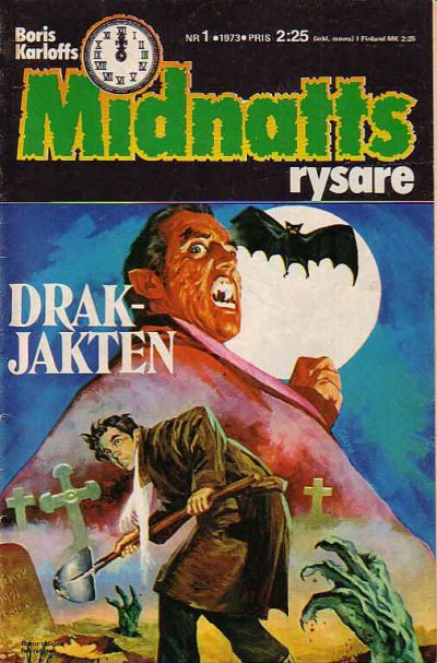 Cover for Boris Karloffs midnattsrysare (Semic, 1972 series) #1/1973