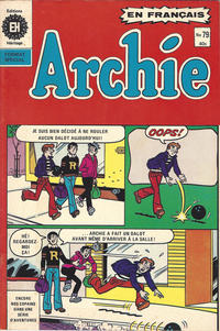 Cover Thumbnail for Archie (Editions Héritage, 1971 series) #79