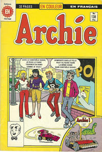 Cover Thumbnail for Archie (Editions Héritage, 1971 series) #138