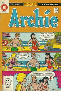 Cover Thumbnail for Archie (Editions Héritage, 1971 series) #140