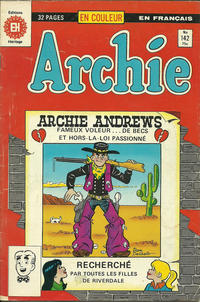 Cover Thumbnail for Archie (Editions Héritage, 1971 series) #142