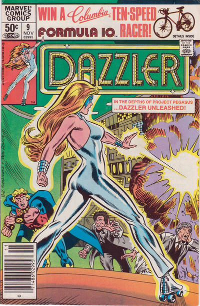 Cover for Dazzler (Marvel, 1981 series) #9 [British Pence]