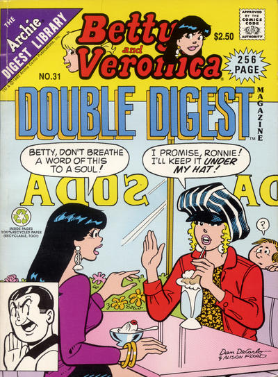 Cover for Betty and Veronica Double Digest Magazine (Archie, 1987 series) #31