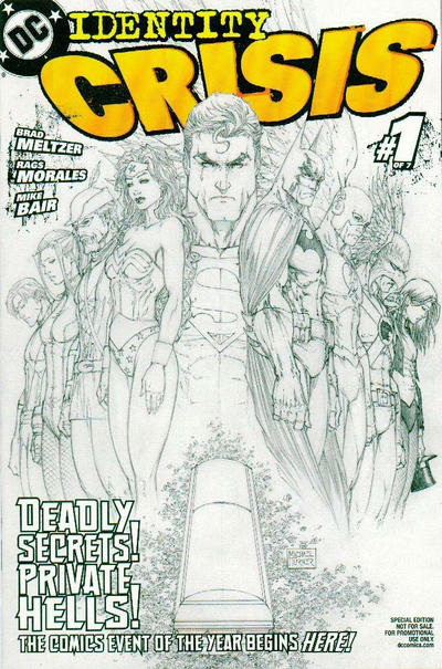 Cover for Identity Crisis (DC, 2004 series) #1 [First Printing]