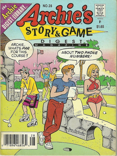 Cover for Archie's Story & Game Digest Magazine (Archie, 1986 series) #28