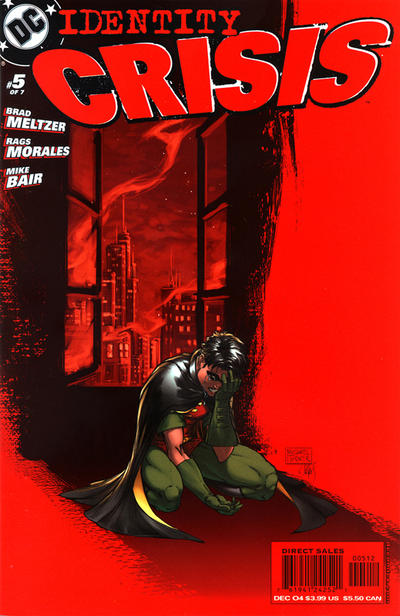 Cover for Identity Crisis (DC, 2004 series) #5 [Second Printing]