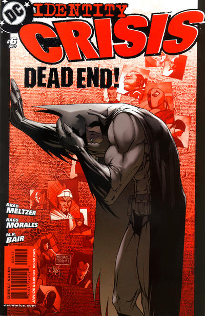 Cover for Identity Crisis (DC, 2004 series) #6 [Second Printing]