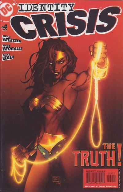 Cover for Identity Crisis (DC, 2004 series) #4 [Second Printing]