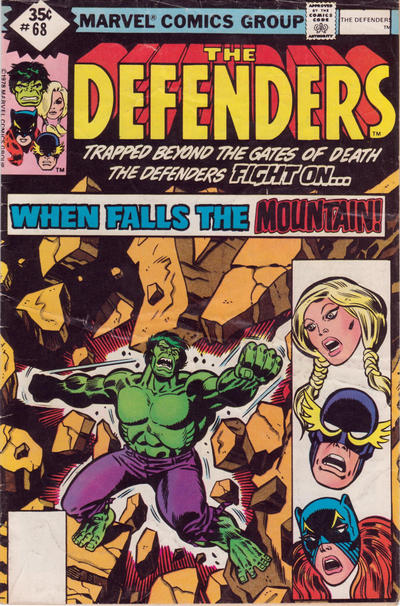 Cover for The Defenders (Marvel, 1972 series) #68 [Whitman]