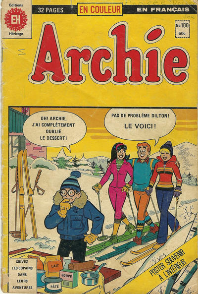Cover for Archie (Editions Héritage, 1971 series) #100