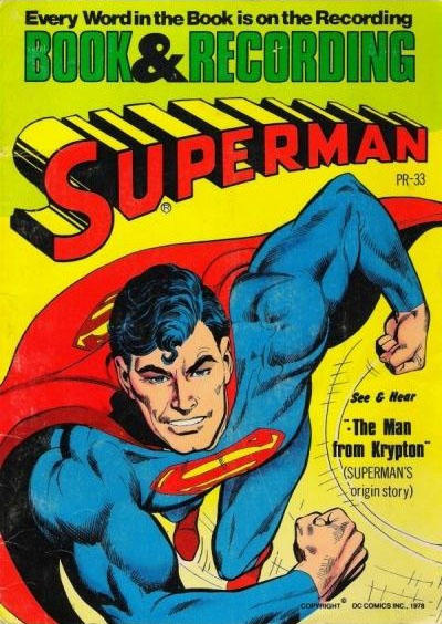 """Cover for Superman: """"The Man from Krypton"""" [Book and Record Set] (Peter Pan, 1978 series) #PR33"""
