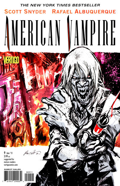 Cover for American Vampire (DC, 2010 series) #9