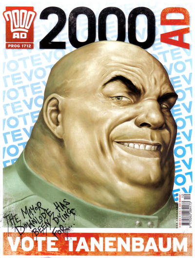 Cover for 2000 AD (Rebellion, 2001 series) #1712