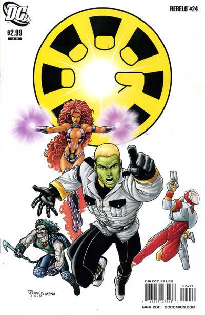 Cover for R.E.B.E.L.S. (DC, 2009 series) #24