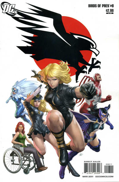 Cover for Birds of Prey (DC, 2010 series) #8