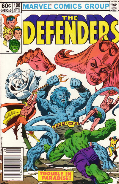 Cover for The Defenders (Marvel, 1972 series) #108 [Direct]