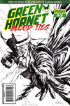 """Cover for Green Hornet: Blood Ties (Dynamite Entertainment, 2010 series) #3 [""""Black, White & Green"""" Retailer Incentive Cover]"""