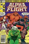 Cover Thumbnail for Alpha Flight (1983 series) #2 [Newsstand]