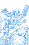 Cover Thumbnail for Angel (2009 series) #20 [Gabriel Rodriguez Retailer Incentive Blueline Sketch Cover (1 in 25)]