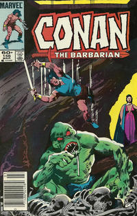 Cover Thumbnail for Conan the Barbarian (Marvel, 1970 series) #156 [Newsstand]
