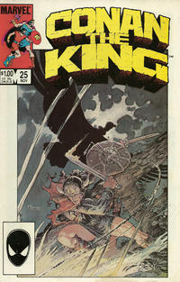 Cover Thumbnail for Conan the King (Marvel, 1984 series) #25 [Direct Edition]