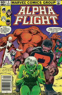 Cover Thumbnail for Alpha Flight (Marvel, 1983 series) #2 [Newsstand]