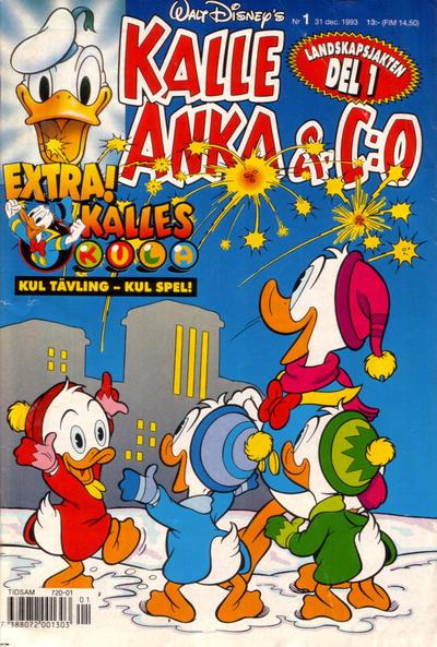 Cover for Kalle Anka & C:o (Serieförlaget [1980-talet], 1992 series) #1/1993
