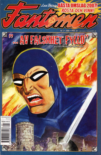 Cover for Fantomen (Egmont, 1997 series) #5/2008