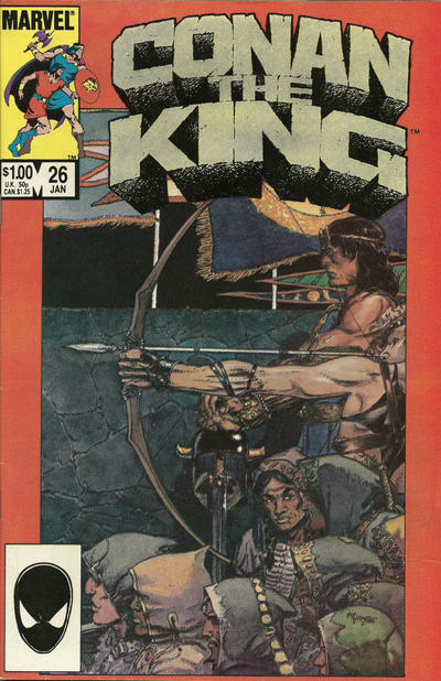 Cover for Conan the King (Marvel, 1984 series) #26 [Direct Edition]