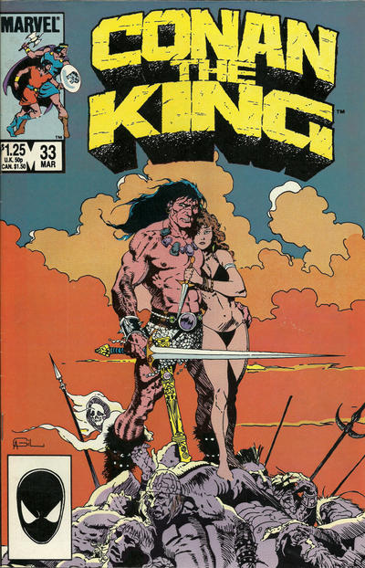 Cover for Conan the King (Marvel, 1984 series) #33 [Newsstand Edition]