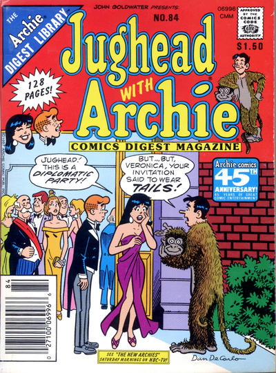 Cover for Jughead with Archie Digest (Archie, 1974 series) #84