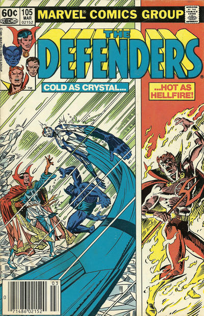 Cover for The Defenders (Marvel, 1972 series) #105 [Direct]