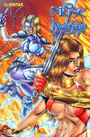 Cover Thumbnail for 10th Muse / Demonslayer (2002 series) #1 [Marat Mychaels Wraparound Cover]