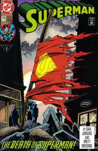 Cover Thumbnail for Superman (DC, 1987 series) #75 [Fourth Print Variant Green Logo]