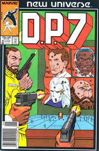Cover Thumbnail for D.P. 7 (Marvel, 1986 series) #8 [Newsstand Edition]