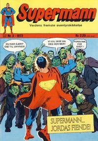 Cover Thumbnail for Supermann (Illustrerte Klassikere / Williams Forlag, 1969 series) #3/1972
