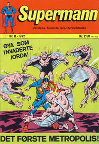 Cover Thumbnail for Supermann (Illustrerte Klassikere / Williams Forlag, 1969 series) #11/1972