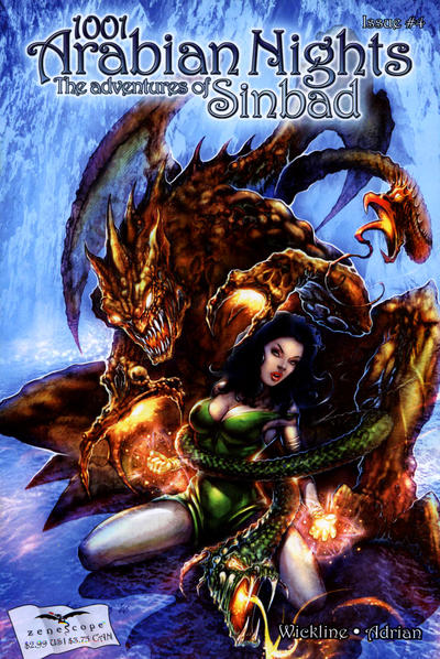 Cover for 1001 Arabian Nights: The Adventures of Sinbad (Zenescope Entertainment, 2008 series) #4 [Dan Leister Cover]