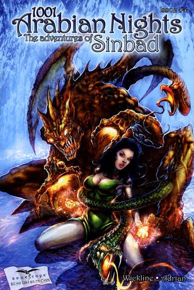Cover for 1001 Arabian Nights: The Adventures of Sinbad (Zenescope Entertainment, 2008 series) #4 [Cover B - Dimitri Patelis]