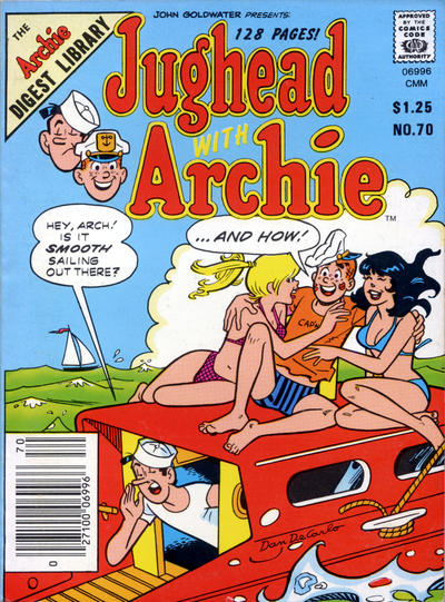 Cover for Jughead with Archie Digest (Archie, 1974 series) #70