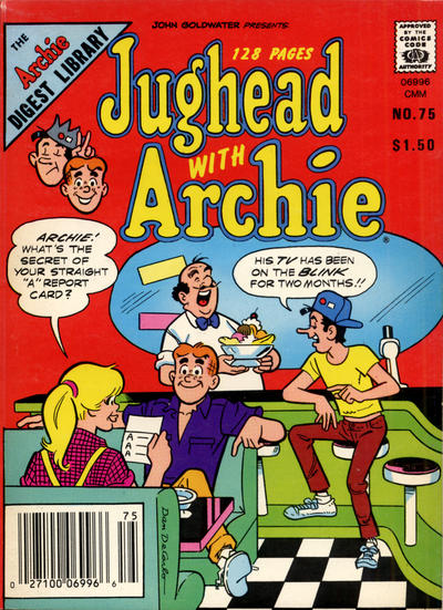 Cover for Jughead with Archie Digest (Archie, 1974 series) #75 [Newsstand]