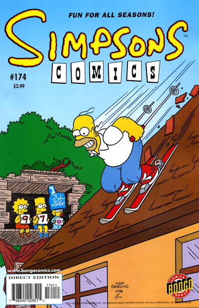 Cover for Simpsons Comics (Bongo, 1993 series) #174