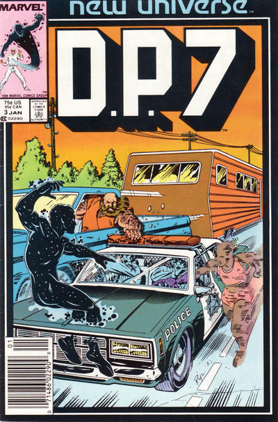 Cover for D.P. 7 (Marvel, 1986 series) #3 [Direct]