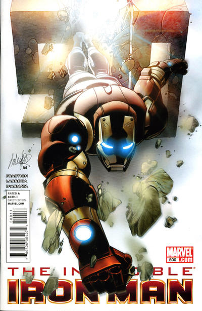 Cover for Invincible Iron Man (Marvel, 2008 series) #500 [Variant Edition - Salvador Larroca]