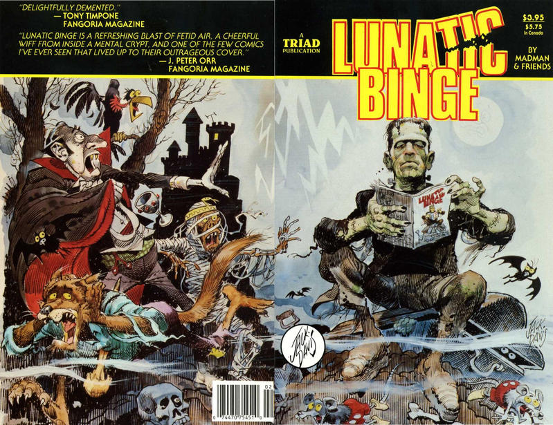 Cover for Lunatic Binge (Triad Publications, 1988 series) #2