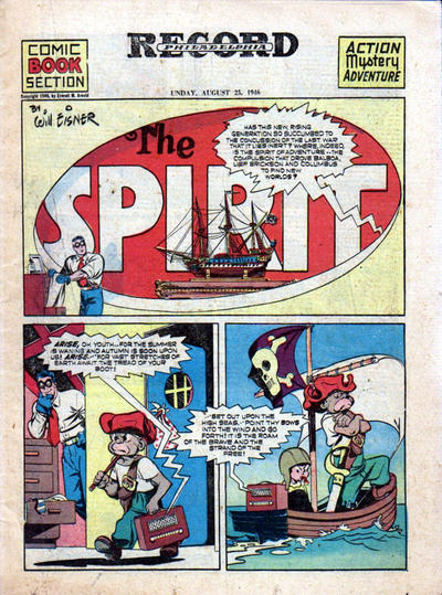 Cover for The Spirit (Register and Tribune Syndicate, 1940 series) #8/25/1946