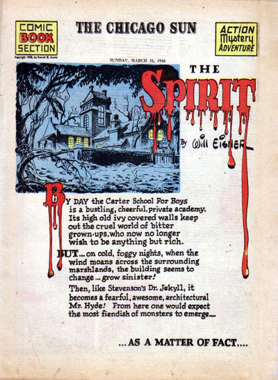 Cover for The Spirit (Register and Tribune Syndicate, 1940 series) #3/31/1946